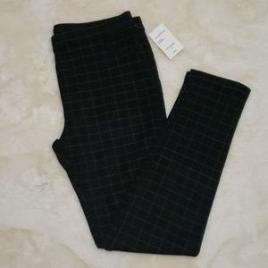 SANCTUARY Slim Ponte Plaid Pants LG New
